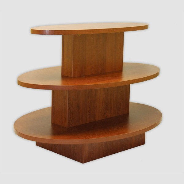 Oval display table retail display stands store display fix for Html display table